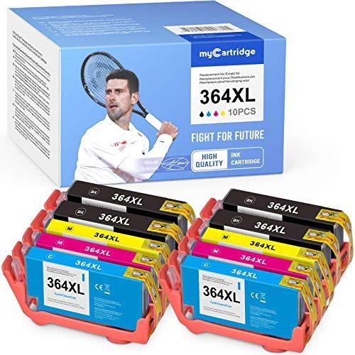 MyCartridge 10 kompatibel HP 364 XL 364XL Druckerpatronen Multipack für HP Photosmart 5510 5520 6510 6520 7510 HP Deskjet 3070A 3520 3524 (Schwarz/Cyan/Magenta/Gelb)