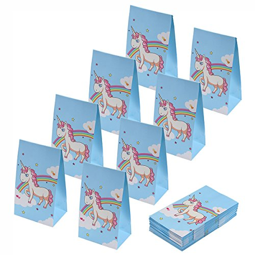 aresmer Unicorn Paper Bags Party Favor Bags for Kids, Unicorn Design, Pack of 24