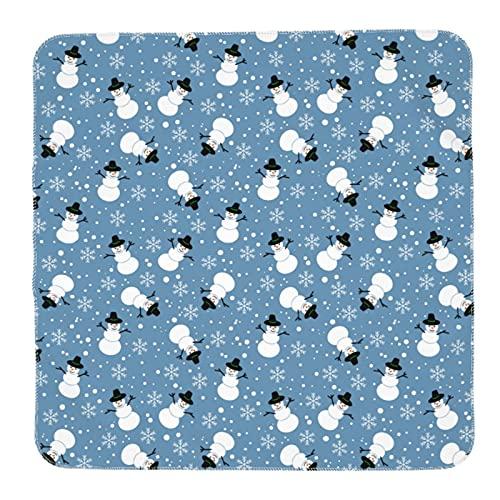 Baby-Wickeldecke mit Kranich-Muster, für Kinderbett, Kinderwagen, Reisen (91,4 x 91,4 cm)