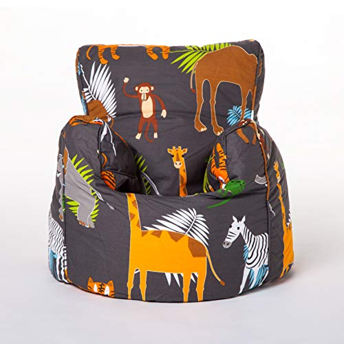 Ready Steady Bed Kids Toddler Armchair | Soft Child Safe Seat Playroom Sofa | Comfy Children Furniture | Ergonomically Designed Bean Bag Chair (Africa)