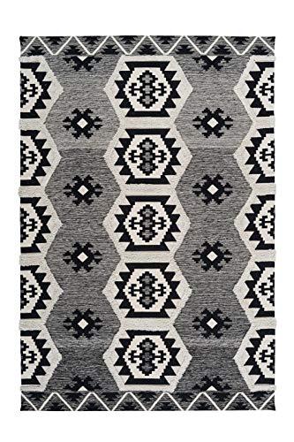 Arte Espina Teppich Ethnie 300 Grau, Größenauswahl:80 x 150 cm