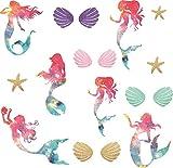 Easu Mermaid Iron On Patch Mermaid Patch Seashells Bra...