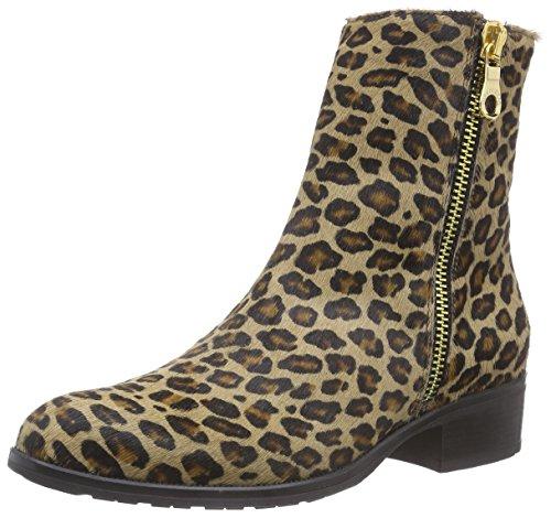 Diavolezza Damen HANNIE Kurzschaft Stiefel, Mehrfarbig (Leopard), 36 EU