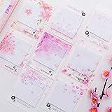 Netter Kawaii Kirschblüten Notizblock Haftnotizen Briefpapier Aufkleber Eingestellt Es Planer