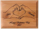 santaornaments Personalized Wood Plaque with Heart Valentines Day...