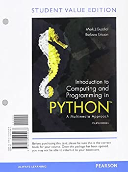 Printed Access Code Introduction to Computing and Programming in Python, Student Value Edition Plus Mylab Programming with Etext -- Access Card Package Book