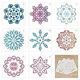 TAZEMAT 36 Hojas Plantillas para Pintar Diseño de Mandala Tarjetas de Plantilla para Manualidades DIY Artesanía para Pintar sobre Mueble Pared Diferentes Patrones Reutilizable 13 × 13cm