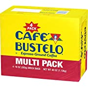 Café Bustelo Coffee, Espresso Ground Coffee Brick, 10 Ounces, 4 Count