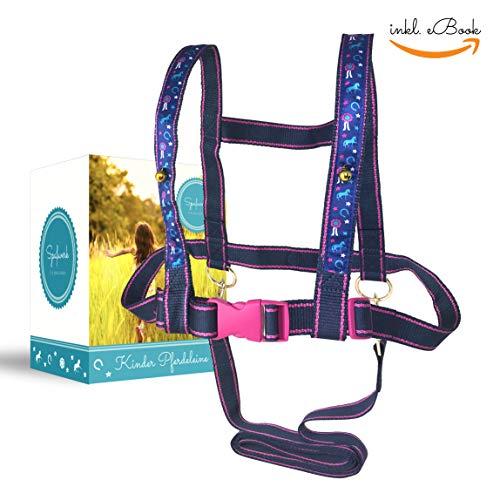 Spaßwerk Pferdeleine zum Spielen für Mädchen [inkl. Spiele-eBook] | Pferdegeschirr für Kinder & Pferdefreunde von 3 bis 12 Jahre | Pferdeleine Kinder von Therapeuten