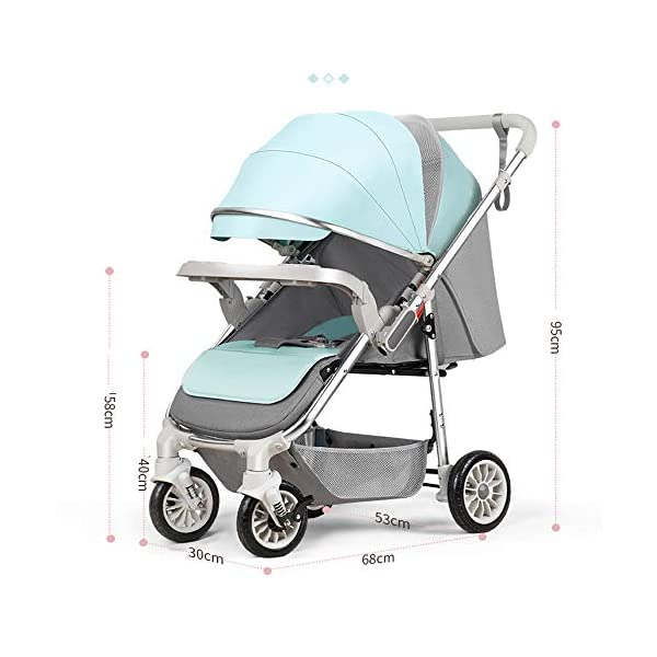 3-in-1 Adjustable Stroller The Stroller Can Be Converted into A Chair That Can Be Turned and Tilted High-Quality Foldable and Portable New Baby Multifunctional Strollercool and Breathable Stroller Makeups Function: 3 in 1; color is blue; compatibility: 0-42 months baby; load capacity: 0-15 kg. Sit or lie down comfortably at home, shopping or traveling. Easy to fold: A case that can be easily and quickly folded with only one hand. The size is reduced, which is ideal for travel and trunk space. The seat can be flipped, the baby can face you or on the street; the car seat can be divided into 3 levels of tilt: 100°-145°-180° (sitting, tilting and sleeping). 6