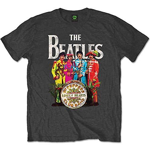 Bravado Beatles,The - Sergeant Pepper 0921103 Unisex - Erwachsene Shirts/ T-Shirts, Gr. 38/40 (M), Grau (dunkelgrau)