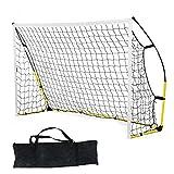 Portería Fútbol para Niños con Red y Bolsa de Transporte Soccer Goal Net para Jardín, Patio, Parque, Playa, Tubos de Hierro, Equipo de Entrenamiento de Fútbol para Niños