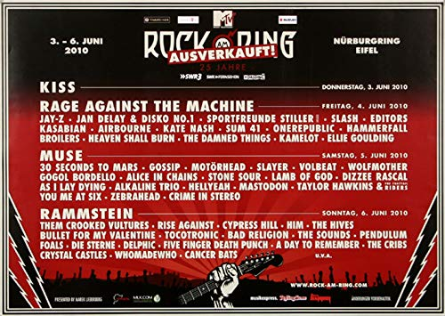 Rock AM Ring & Park - Rock am Ring, Rock am Ring 2010 » Konzertplakat/Premium Poster | Live Konzert Veranstaltung | DIN A1 «