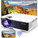 Mini Projector, Full 1080P 200' Display Portable Outdoor Movie Projector, 50,000 Hrs LED Lamp Life Video Projector for Home Theater, Campatible with PS4, TV Stick, HDMI, VGA, an, USB,Laptop