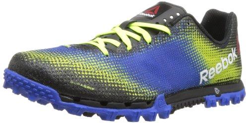 Reebok Men's All Terrain Sprint Running Shoe,Neon Yellow/Vital Blue/Black/White,8.5 M US