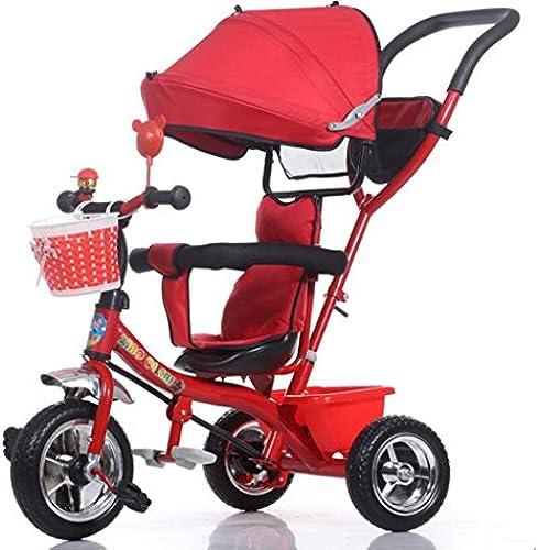Babywagen Kinder Dreirad Kinderwagen   1-3-5 Jahre alt Baby Kinderwagen Kinderwagen rot Fahrrad