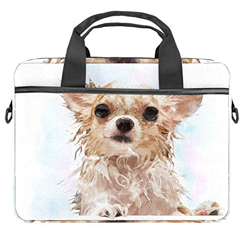 Cartoon Dog Laptop Shoulder Messenger Bag 15 inch Case Sleeve for 14 Inch Laptop Case Laptop Briefcase Compatible Notebook