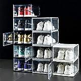 YQDSY Clear Plástico Caja de Zapatos, Mueble de Exhibición de Zapatos Modulares 10 Unids, Organizador de Alenamiento de Zapatos Apilable, Cajas de Alenamiento de Zapatos para Ahorr