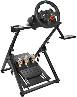 Marada Racing Game Steering Wheel Stand Adjustable for Logitech G25, G27, G29, G920 Driving Simulator Steering Wheel Stand Wheel and Pedals Not Included