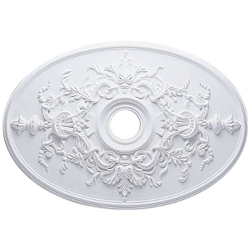 Ekena Millwork CM21X30AL Alexa Ceiling Medallion, 30 3/4W x 21/14H x 3 7/8ID x 1 5/8P (Fits Canopies up to 5 5/8), Factory Primed