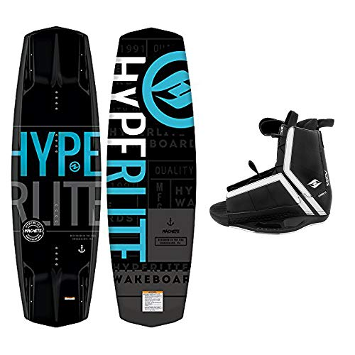 Hyperlite Wakeboard Machete 2021 with Agent Wakeboard Bindings Fits Most Shoe Sizes (140 cm)