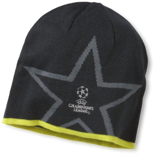 adidas X50832 OSFL UCL Star - Gorro, diseño con Estrella y Texto UEFA Champions League, Color Gris y Amarillo