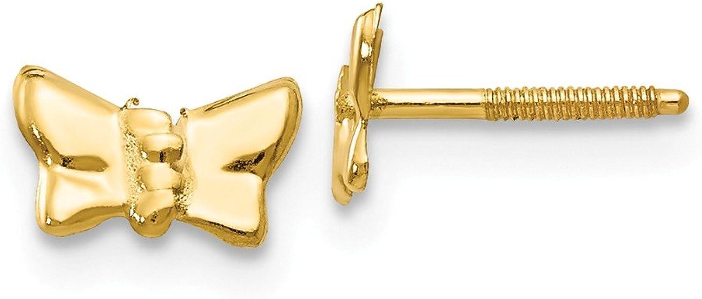 Beautiful Yellow gold 14K Yellowgold 14k Madi K Butterfly Post Earrings