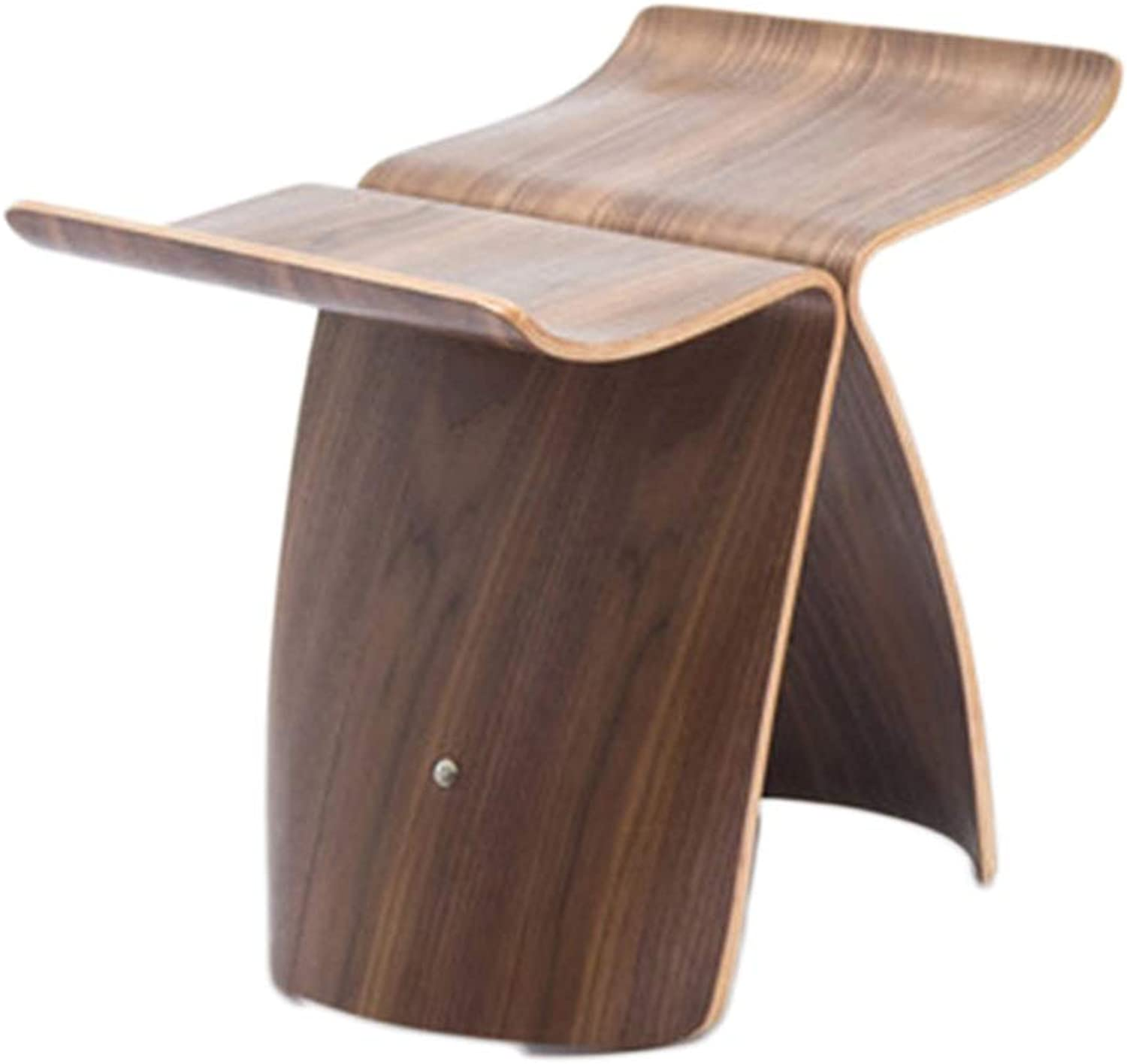 Stools Stool Low Stool Living Room Butterfly Stool Solid Wood shoes Bench Kitchen Stool Footstool Dressing Table Stool (color   B, Size   44  31  40cm)