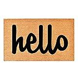 """Calloway Mills 100342436NBS Hello Doormat, 24"""" x 36"""", Natural/Black"""