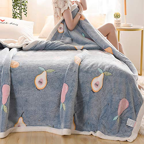 Snow Fleece Double Blanket, Lamb Fleece Winter Thick Blanket Quilt, Moisture-Absorbing and Breathable, Comfortable Coral Fleece Sheets,C,200cmx230cm