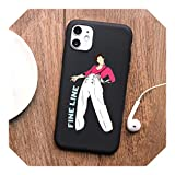 Harry Styles Love on Tour funda de teléfono de línea fina para iPhone 11 Pro Max X XS Max XR 8 Plus 6 6S 6 Plus 7 Plus 5 5S SE funda de TPU suave Q568-negro-para iPhone 7 u 8