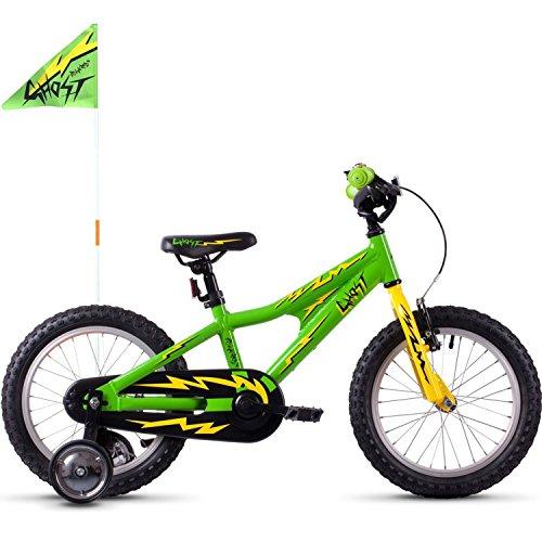 Ghost Powerkid 16 AL Kinder Fahrrad 2019 (Einheitsgröße, Riot Green/Cane Yellow/Night Black)