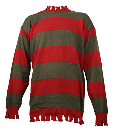 Men's Nightmare On Elm Street Freddy Kreuger Tattered Sweater Deluxe (XL (44 in-60 in. Chest))