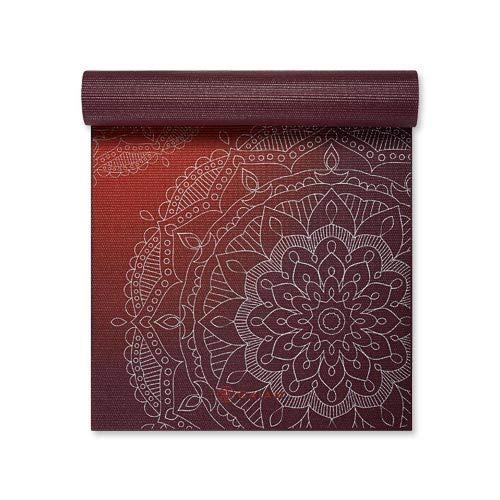 gaiam Esterilla de yoga metálica, 6 mm, diseño de atardecer metálico, talla única