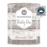 Wanders24®️ Kreidefarbe (750 ml, viktorianisches Weiß) Holzfarbe für Shabby Chic Look -...