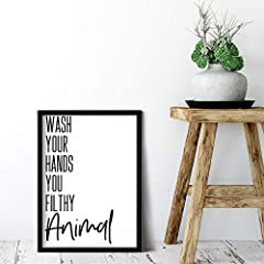 **** Please Note These Prints Do Not Include Frames *** Each print is A4 in size and printed on high quality 300 GSM Card These quality bathroom prints are the perfect way to brighten up any bathroom and add a bit of stylish humour! Create a striking...