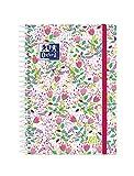 Oxford Blossom, Agenda 2021 2022 Semana vista, Tapa Extradura, 8º (12x18 cm), Floral Fucsia