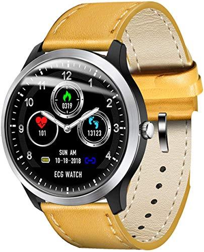 N58 ECG PPG reloj inteligente hombres mujeres s ECG Monitor de presión arterial Monitor de ritmo cardíaco Smartwatch para Android IOS-A