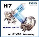 INION® 2 x H7 12v 55w PX26d Super Star Edition Birne Halogen Autolampen DUO/SET / 2 Stueck XENON LOOK WHITE WEISS - Long Life StVO Zugelassen