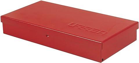 Caja de herramientas de metal, 9 – 2/3 pulgadas de largo x 5 pulgadas de ancho x 1 – 4/7 pulgadas de alto, calibre de 24 h...