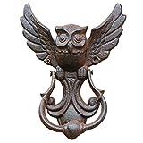 Owl Door Knocker,House Doors Cast Iron Pull Door Handle Vintage Owl Antique Style Decorative Door For Your Garden/Wooden House/Farmhouse