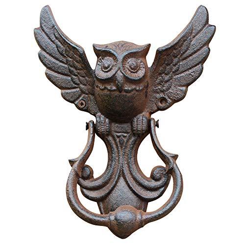 Owl Design Door Handle, Vintage Door Knocker Metal Cast Iron Door Ring, Heavy Duty Owl Shape Knocker