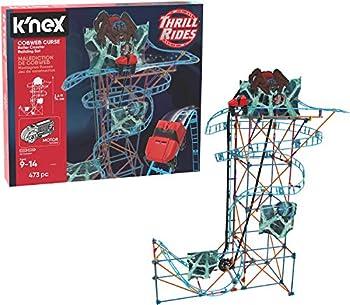 K NEX Thrill Rides – Cobweb Curse Roller Coaster Building Set – 473Piece – Ages 9+ Construction Educational Toy Building Set