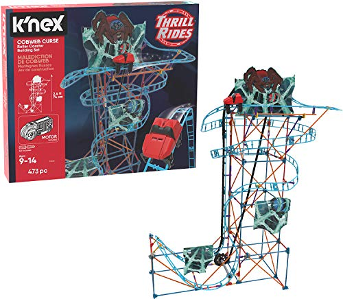 K'NEX Thrill Rides – Cobweb Curse Roller Coaster Building Set – 473Piece – Ages 9+ Construction Educational Toy Building Set