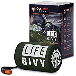 Go Time Gear Life Bivy Emergency Sleeping Bag Thermal Bivvy – Use...