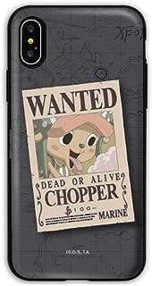 【iPhoneXS Max・アイフォン XS Max】ONE PIECE WANTED DEAD OR ALIVE ワンピース ウォンテッド 便利なカード収納付き ドアバンパーケース iPhoneケース Galaxyケース 〈チョッパー〉