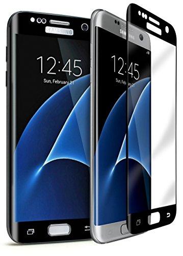 bastex-samsung Galaxy S7Edge [0.26mm] 9-H Premium Protector de pantalla de cristal templado/Invisible, transparente Transparencia de alta definición, & anti-bubble Shield con marco negro para Samsung Galaxy S7Edge