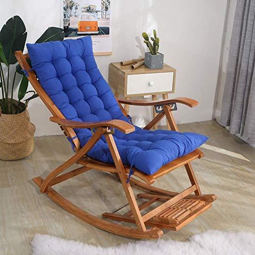 YXFYXF Garten Wicker Stuhl Cushion.Soft Stuhlkissen mit Riegeln ohne Verdickung der Faltbare doppelseitigen c Schaukelstuhl (Color : 48x120cm(19x47inch)-Blue)