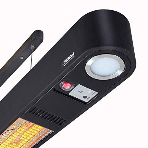 Heizstrahler Wand- und Deckenaufhängung mit LED Beleuchtung und Fernbedienung - 5