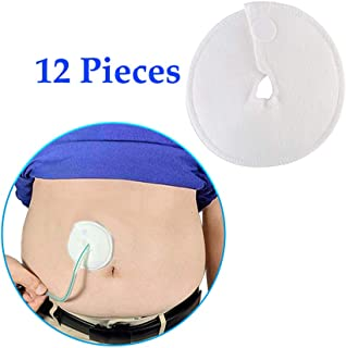 Feeding Tube Pad G Tubes Button Pads Holder Covers Peg Tube Supplies Catheter Support Peritoneal Abdominal Dialysis Extra Soft and Absorbent Pads (12 Pack)